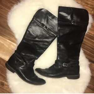 Black Shirley Frye Boots